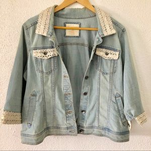 Sonoma Embellished Rock Star Blue Denim Jacket